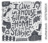 i live in a house  but my home... | Shutterstock .eps vector #1070760014