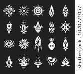 vector set of hand drawn... | Shutterstock .eps vector #1070771057