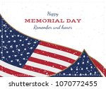 happy memorial day. vintage... | Shutterstock .eps vector #1070772455