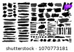 big set of black paint  ink... | Shutterstock .eps vector #1070773181