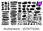 big set of black paint  ink... | Shutterstock .eps vector #1070773181