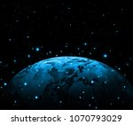 earth from space. best internet ... | Shutterstock . vector #1070793029