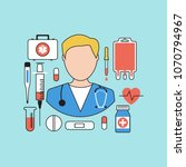 icon doctor. medical concept.... | Shutterstock . vector #1070794967