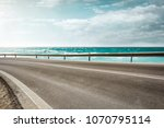 summer road background of free... | Shutterstock . vector #1070795114