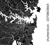 area map of sydney  australia.... | Shutterstock .eps vector #1070803865