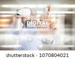 digital disruption  future... | Shutterstock . vector #1070804021