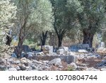 stones of ancient times on the... | Shutterstock . vector #1070804744