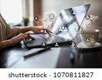 people organisation structure.... | Shutterstock . vector #1070811827