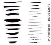 set of brushes  raster copy   Shutterstock . vector #1070812649