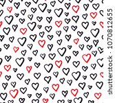seamless pattern with doodle...   Shutterstock . vector #1070812655