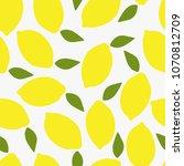 seamless pattern with lemon in...   Shutterstock . vector #1070812709