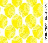 seamless pattern with lemon...   Shutterstock . vector #1070812721