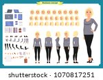 young woman  casual clothes.... | Shutterstock .eps vector #1070817251