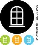 window frame   vector icon...   Shutterstock .eps vector #107081909