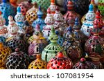 tunisian lamps at the market in ... | Shutterstock . vector #107081954