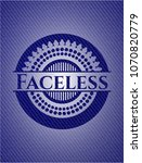faceless badge with jean... | Shutterstock .eps vector #1070820779