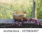 tibetan bowl made of seven... | Shutterstock . vector #1070826407