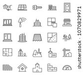 thin line icon set  ... | Shutterstock .eps vector #1070829971