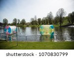 waterball in the lake | Shutterstock . vector #1070830799