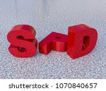 the letters spd  german party   ... | Shutterstock . vector #1070840657