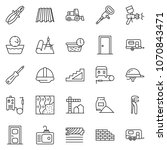 thin line icon set  ... | Shutterstock .eps vector #1070843471