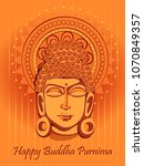 vector design of lord buddha on ... | Shutterstock .eps vector #1070849357