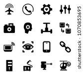 solid vector icon set   plane... | Shutterstock .eps vector #1070853695