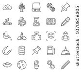 thin line icon set   gas... | Shutterstock .eps vector #1070856305