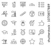thin line icon set   wallet... | Shutterstock .eps vector #1070857889