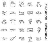 thin line icon set   home... | Shutterstock .eps vector #1070857919