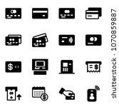 solid vector icon set   credit... | Shutterstock .eps vector #1070859887