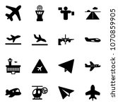 solid vector icon set   plane... | Shutterstock .eps vector #1070859905