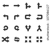 arrows icons set. | Shutterstock . vector #107086127