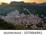 view of rocinha  largest favela ... | Shutterstock . vector #1070866841