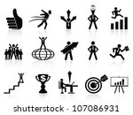 successful business icons set | Shutterstock .eps vector #107086931