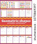 learn shapes and geometric... | Shutterstock .eps vector #1070869397