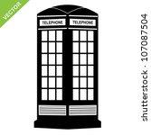 Silhouette Telephone Call Box...