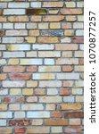 rusty orange brick wall... | Shutterstock . vector #1070877257