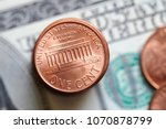 close up of us cent coins on... | Shutterstock . vector #1070878799