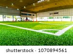 corner kick spot in an indoor... | Shutterstock . vector #1070894561