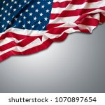 closeup of american flag on... | Shutterstock . vector #1070897654