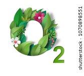 inscription o2. pattern of... | Shutterstock . vector #1070898551