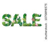 illustration. lettering sale.... | Shutterstock . vector #1070898575
