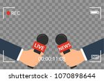 background with camera frame...   Shutterstock .eps vector #1070898644