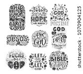 vector set of religions... | Shutterstock .eps vector #1070904125