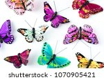 arts and crafts painted... | Shutterstock . vector #1070905421