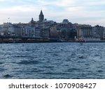 galata tower in istanbul  turkey   Shutterstock . vector #1070908427