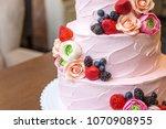 beautiful elegant three tiered...   Shutterstock . vector #1070908955