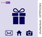 gift icon vector  present sign | Shutterstock .eps vector #1070912261