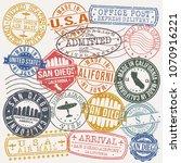 san diego california stamp... | Shutterstock .eps vector #1070916221